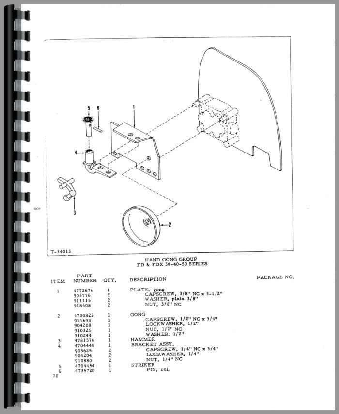 Allis Chalmers FL 50 Forklift Parts Manual