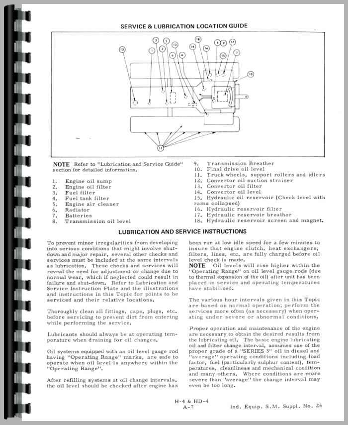 Allis Chalmers HD4 Crawler Service Manual