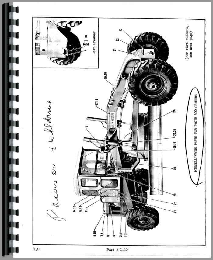 Austin Western Pacer 400 Grader Parts Manual