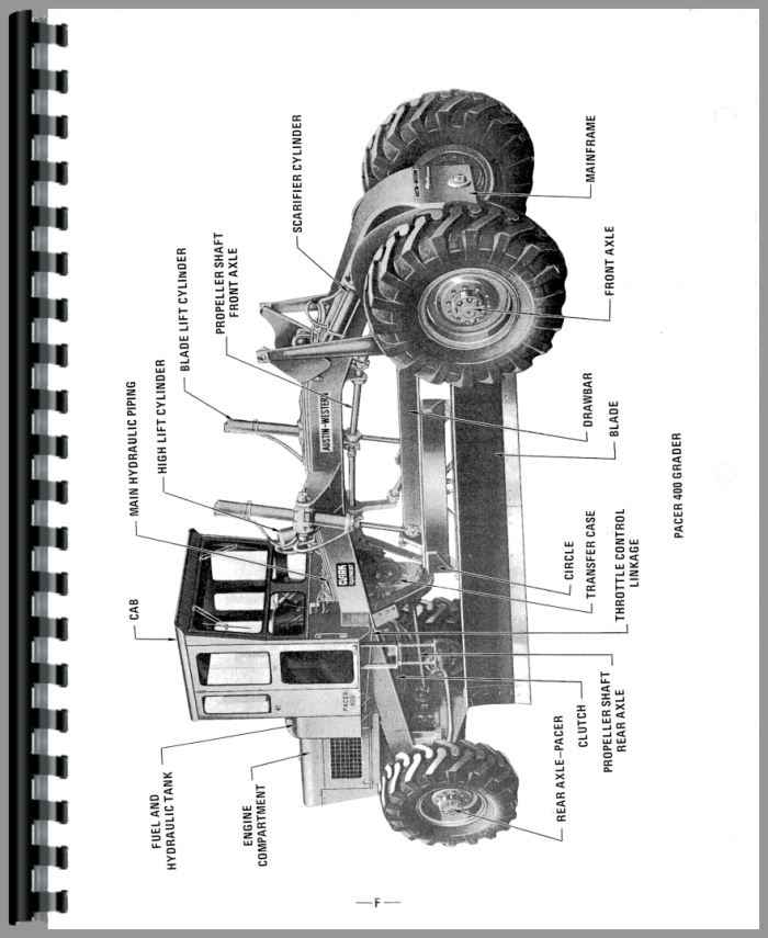 Austin Western Super 500 Grader Parts Manual