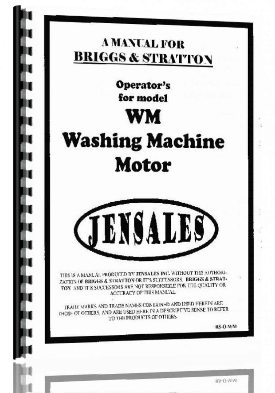 Briggs And Stratton WM Engine Operators Manual