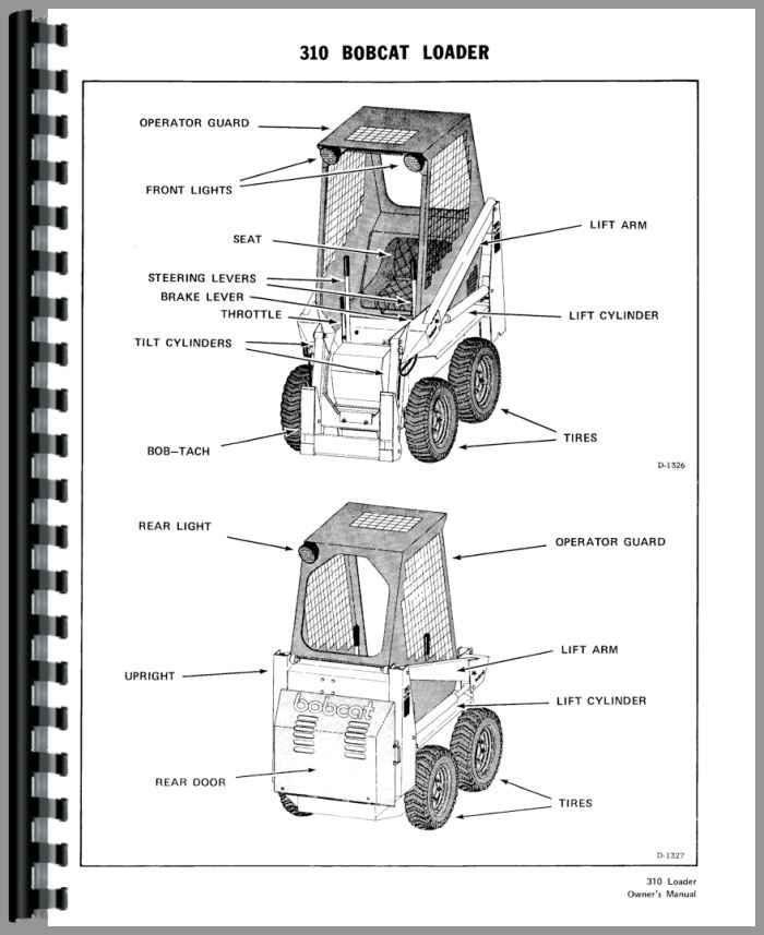 Bobcat 310 Skid Steer Loader Operators Manual