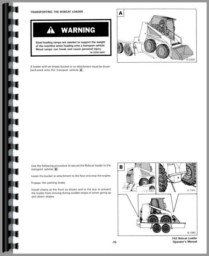Bobcat 742 Skid Steer Loader Operators Manual