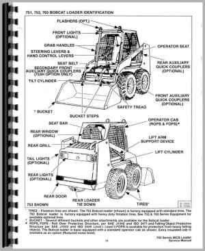 Bobcat 773 Skid Steer Loader Service Manual