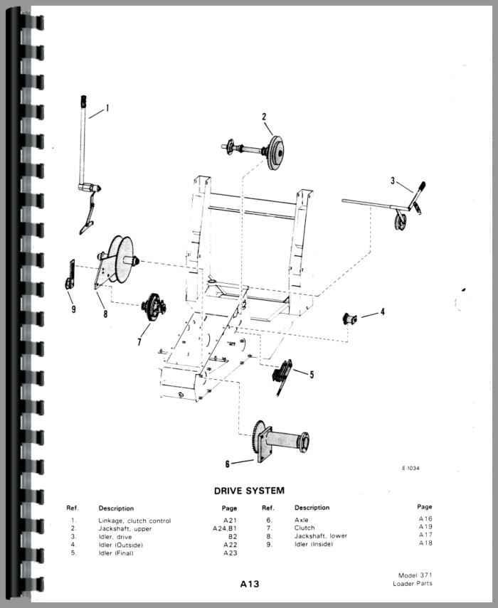 Bobcat M-700 Skid Steer Loader Parts Manual