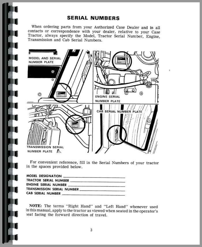 Case 1070 Tractor Operators Manual