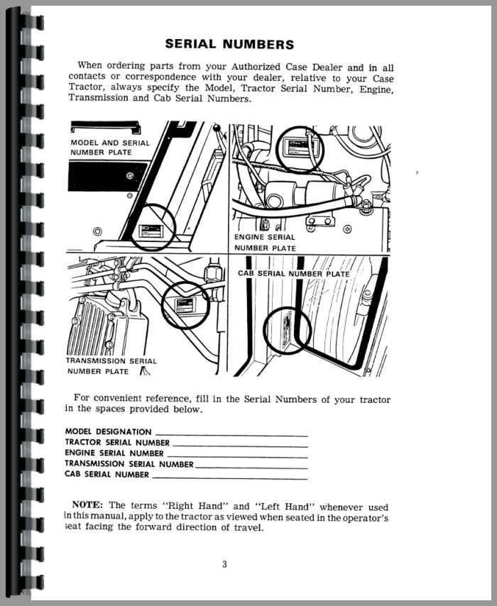 Case 1070 Tractor Operators Manual