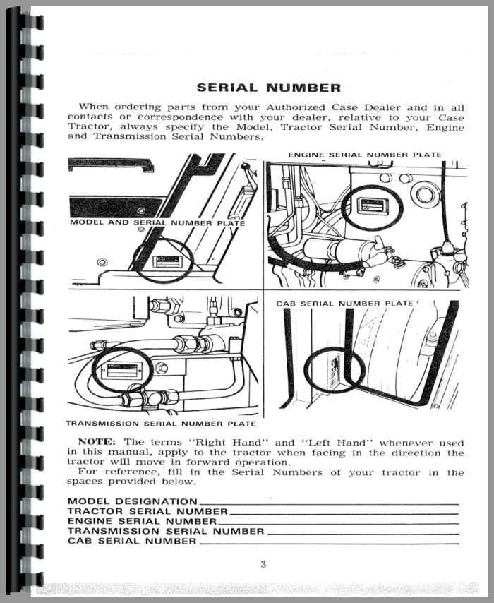Case 1270 Tractor Operators Manual