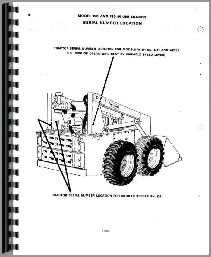 Case 150M Uniloader Parts Manual