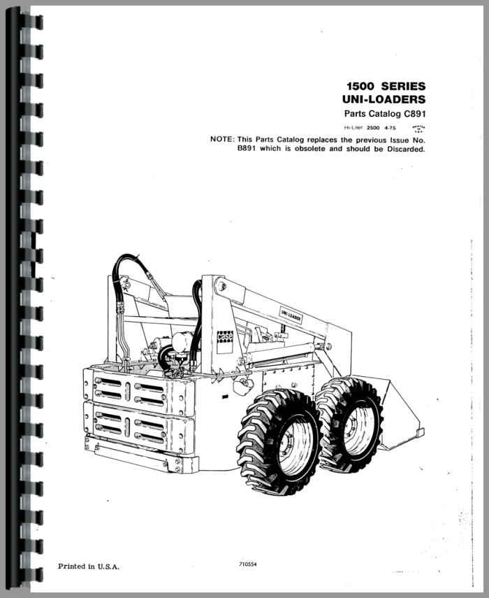 Case 1530 Uniloader Parts Manual