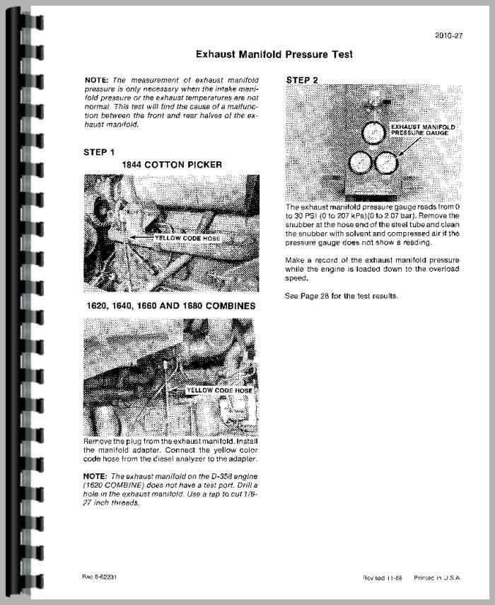 Case 1660 Combine Service Manual