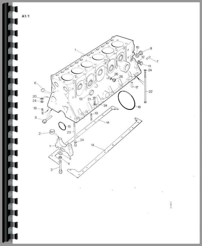 Case 1690 Tractor Parts Manual