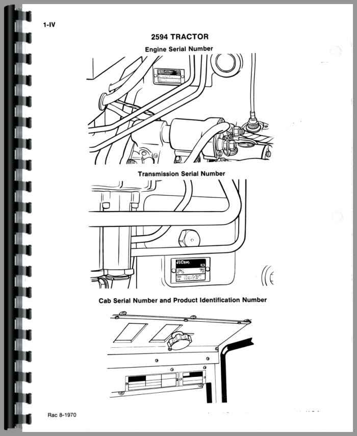 Case 2594 Tractor Parts Manual