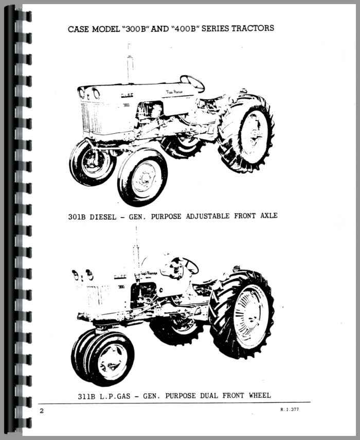 Case 300B Tractor Parts Manual