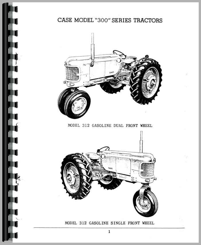 Case 311 Tractor Parts Manual