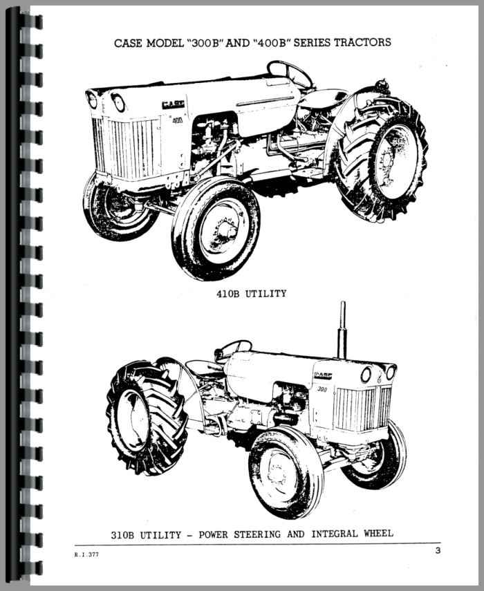 Case 311B Tractor Parts Manual