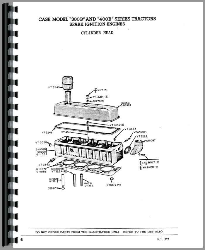 Case 400B Tractor Parts Manual