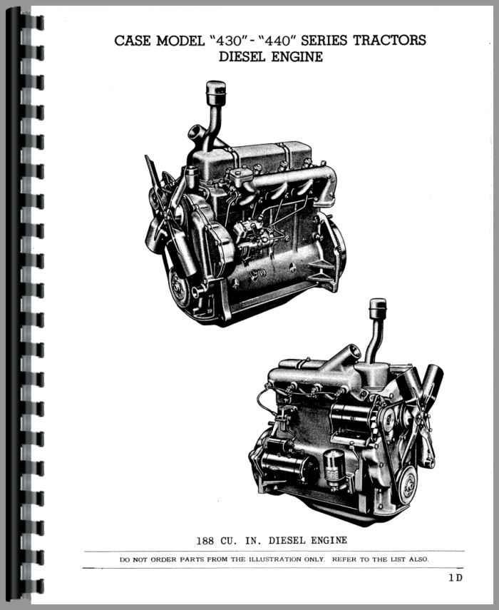 Case 441 Tractor Parts Manual