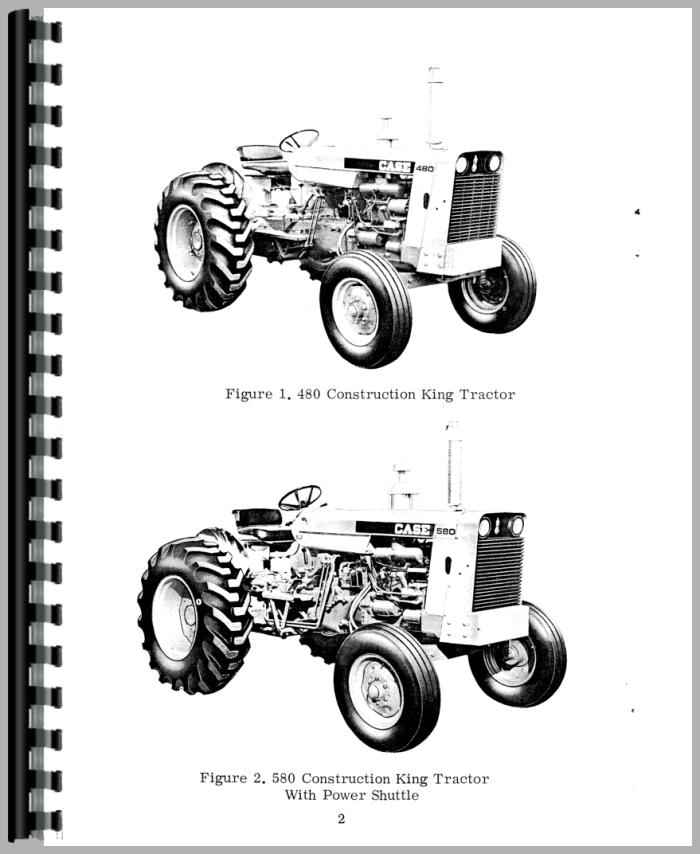 Case 480 Industrial Tractor Operators Manual