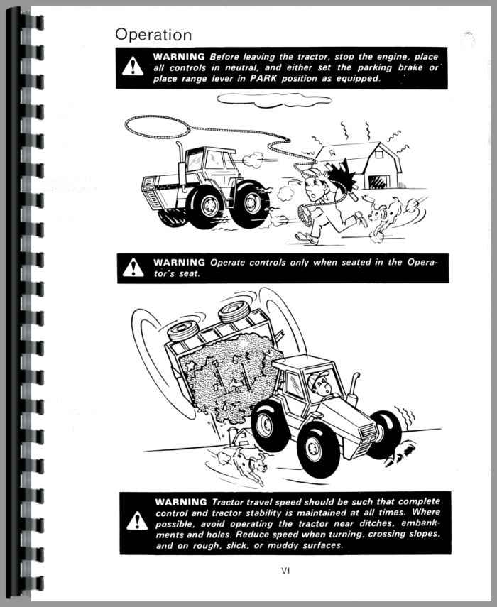 Case 4890 Tractor Operators Manual