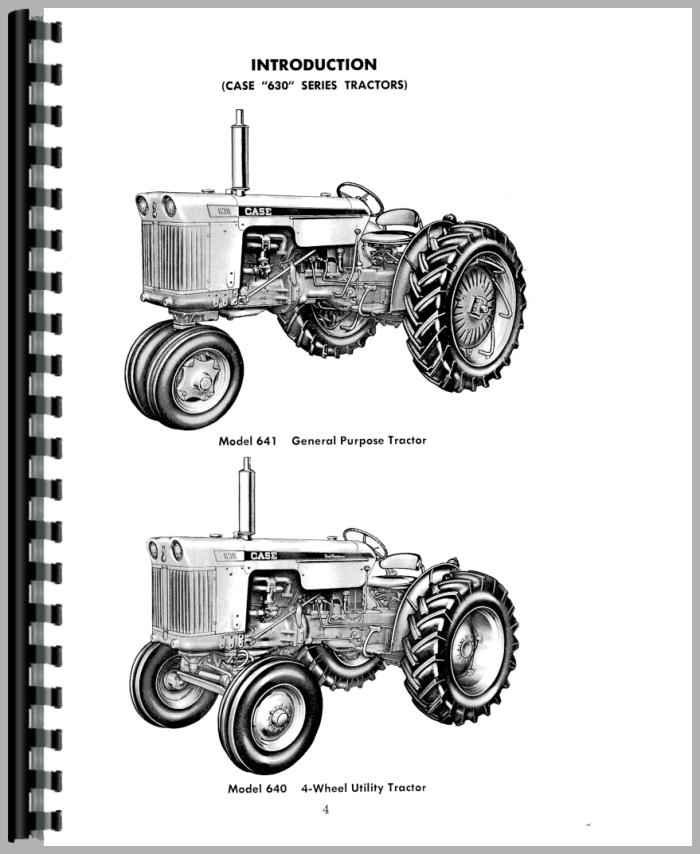 Case 631C Tractor Operators Manual