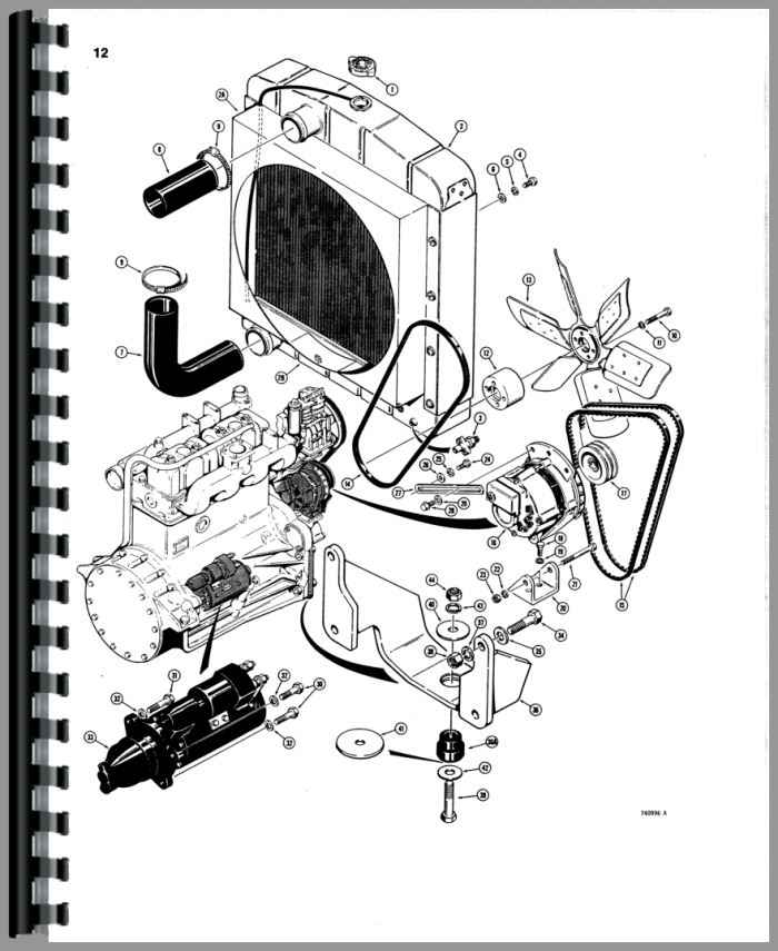 Case 780 Tractor Loader Backhoe Parts Manual