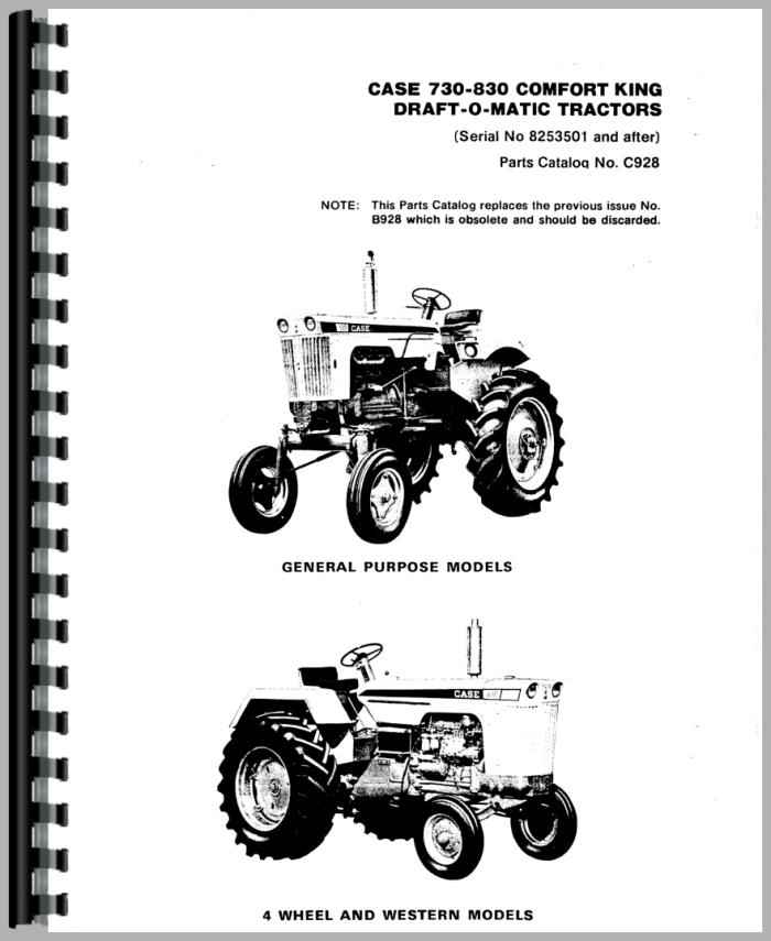 Case 830 Tractor Parts Manual