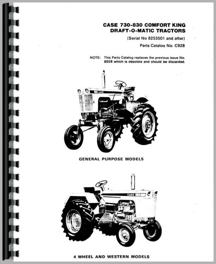 Case 831 Tractor Parts Manual