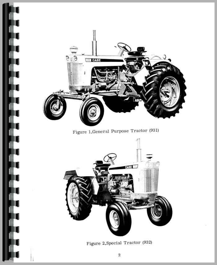Case 931 Tractor Operators Manual