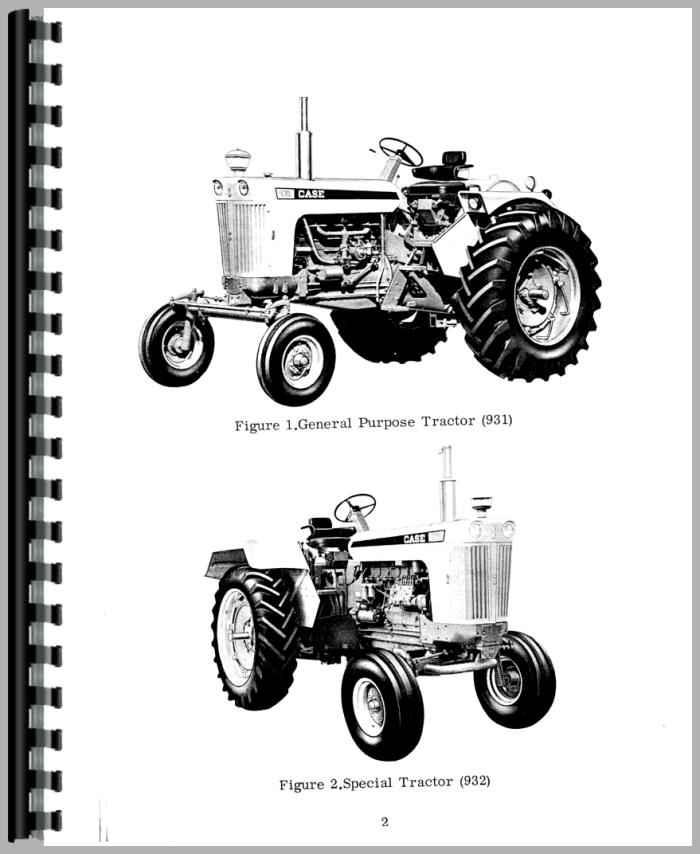 Case 931 Tractor Operators Manual
