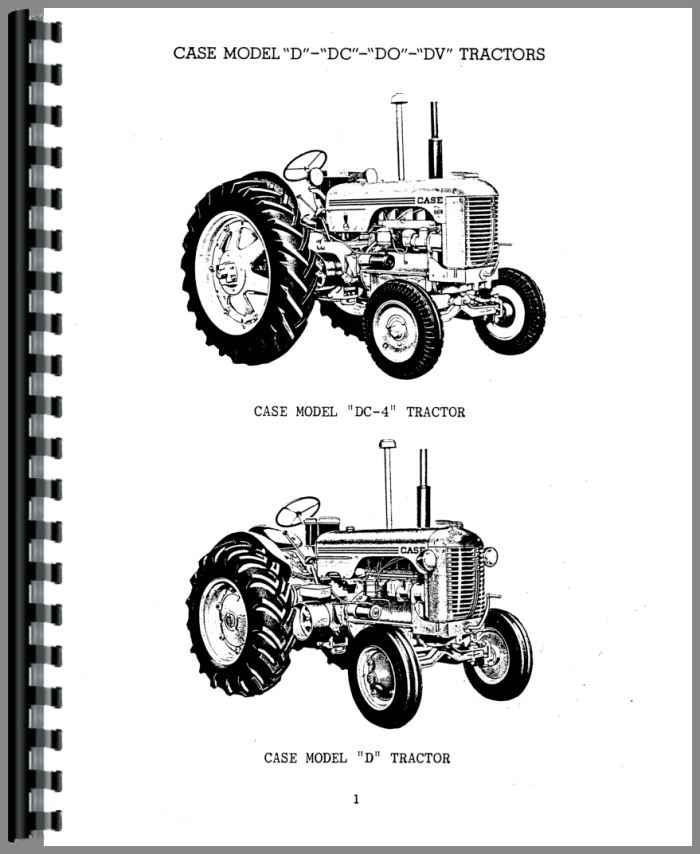 Case D Tractor Parts Manual