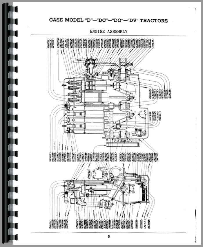 Case DC Tractor Parts Manual