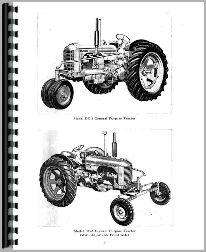 Case DC3 Tractor Operators Manual