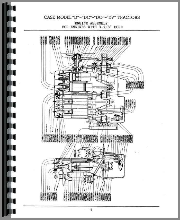 Case DC3 Tractor Parts Manual