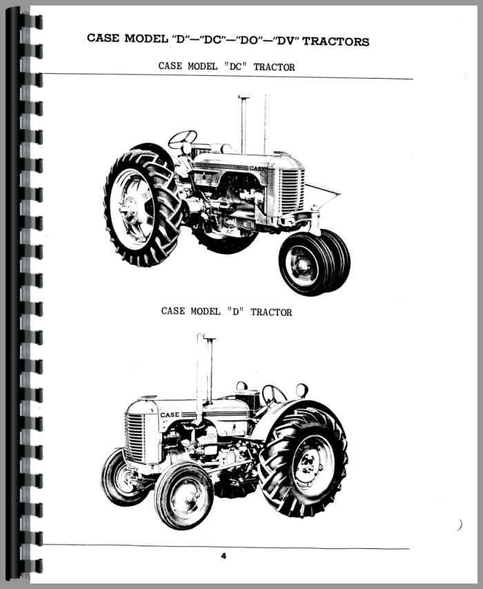 Case DV Tractor Parts Manual