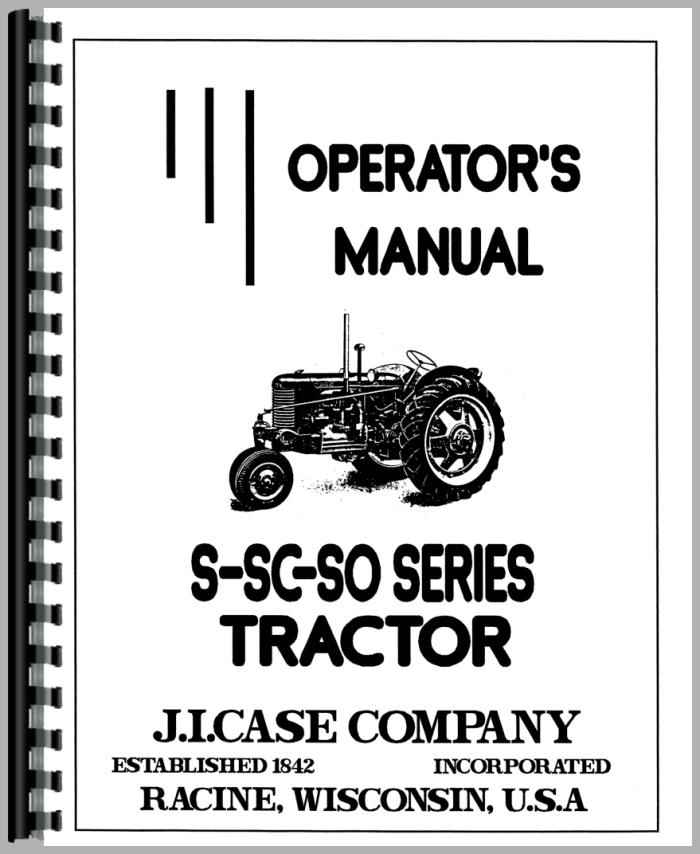 Case S Tractor Operators Manual
