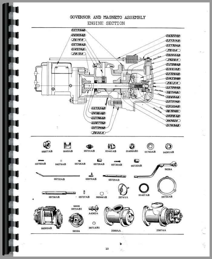 Case SC Tractor Parts Manual