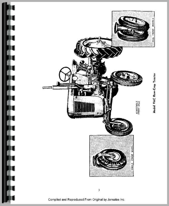 Case VAC Tractor Operators Manual