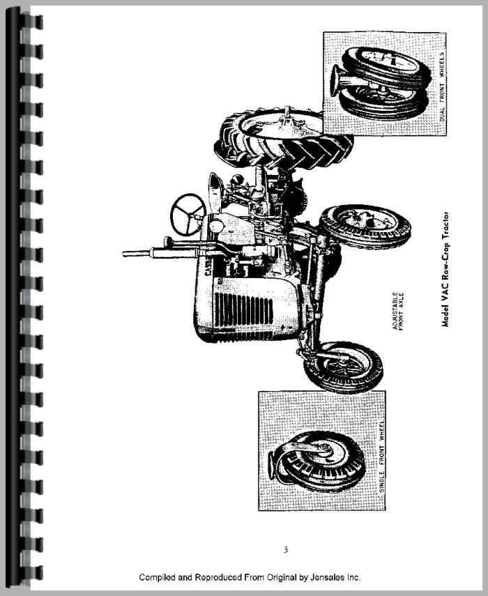 Case VAC Tractor Operators Manual
