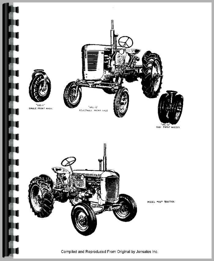 Case VAC Tractor Parts Manual