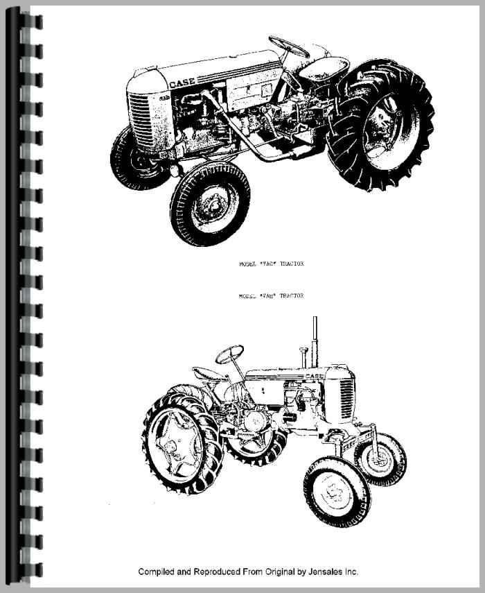 Case VAO Tractor Parts Manual