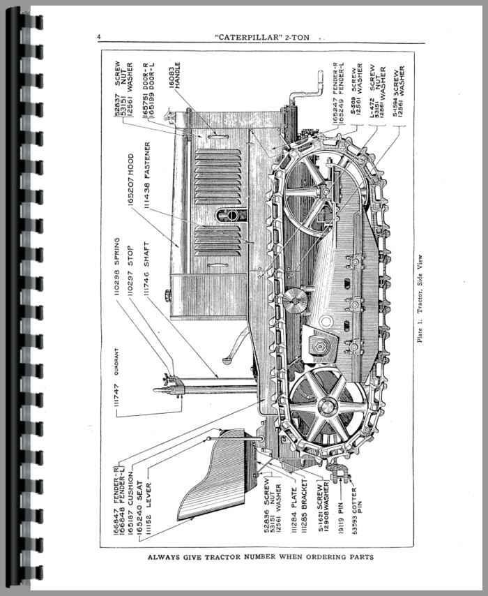 Caterpillar 2-Ton Crawler Parts Manual