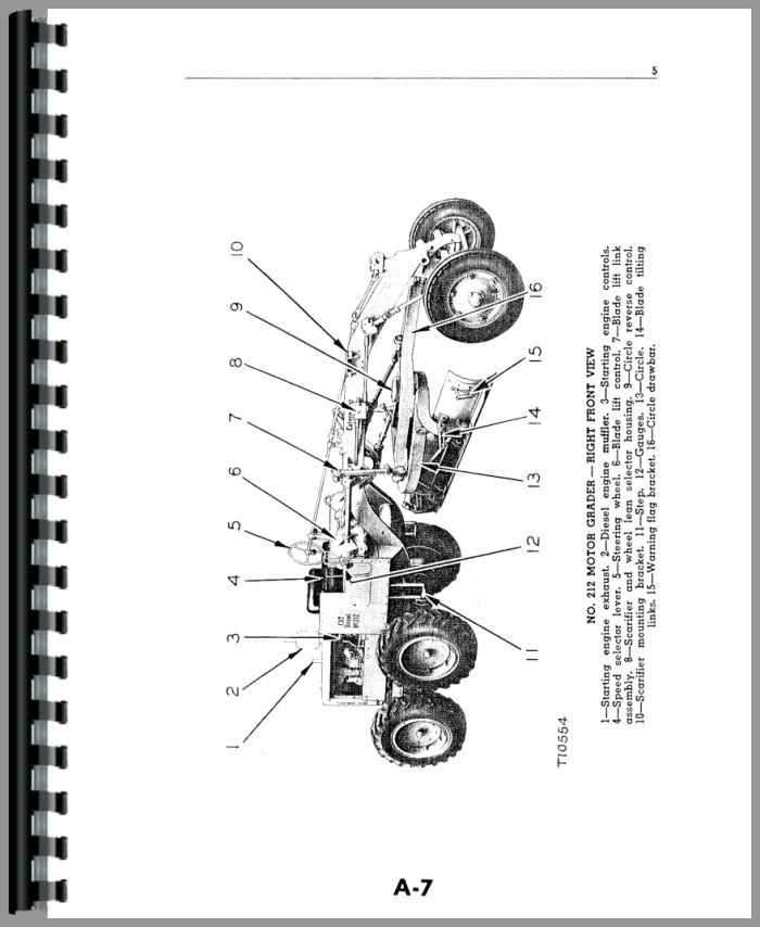 Caterpillar 212 Grader Operators Manual