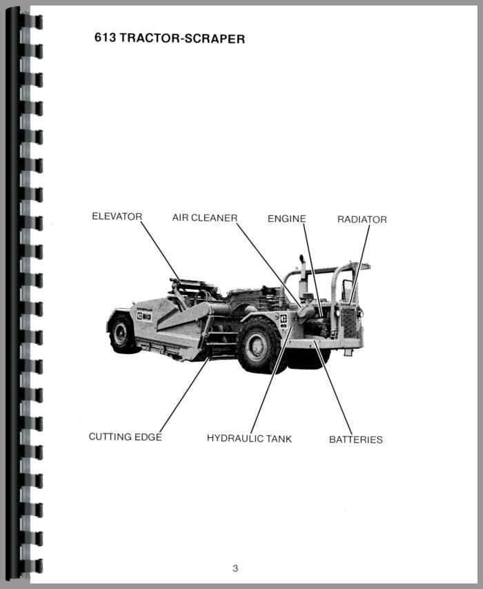 Caterpillar 613 Tractor Scraper Operators Manual