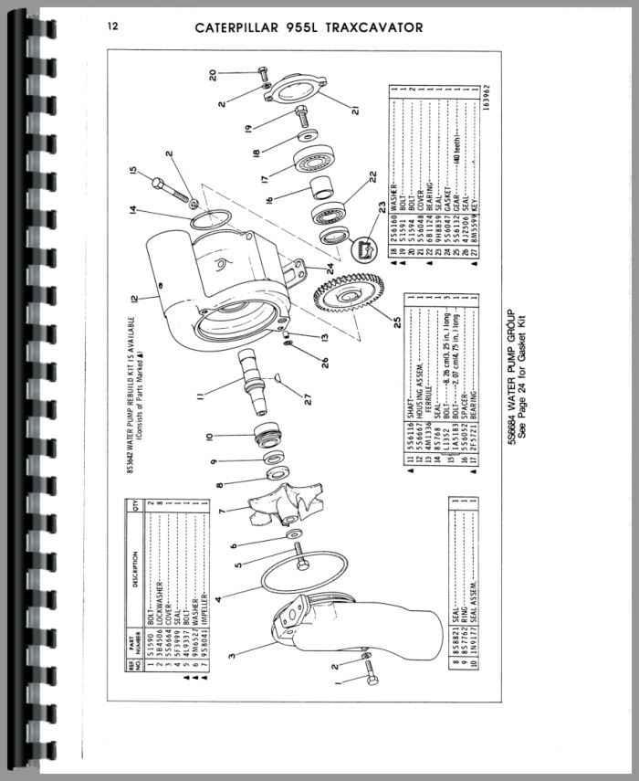 Caterpillar 955L Traxcavator Parts Manual