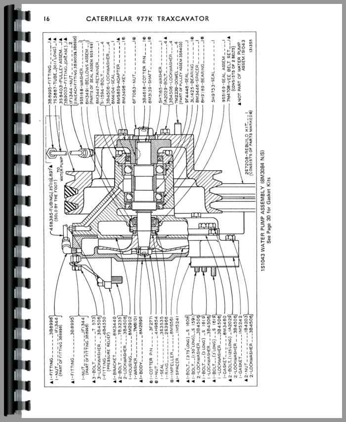 Caterpillar 977K Traxcavator Parts Manual