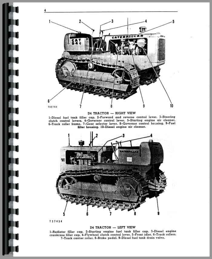 Caterpillar D4 Crawler Operators Manual