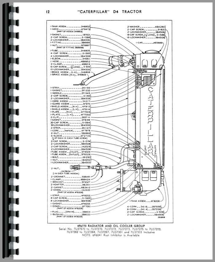 Caterpillar D4 Crawler Parts Manual