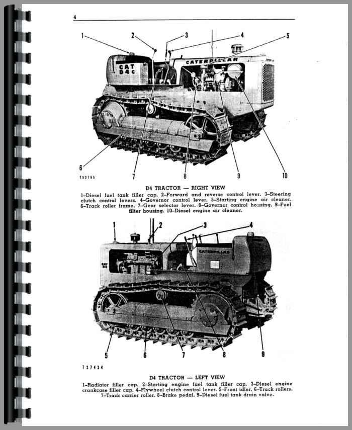Caterpillar D4C Crawler Operators Manual