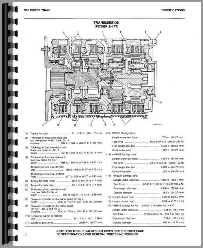 Caterpillar D4E Crawler Service Manual